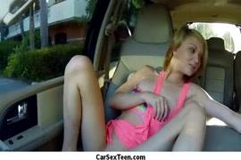 Baiser la merde hors delle dans la voiture.